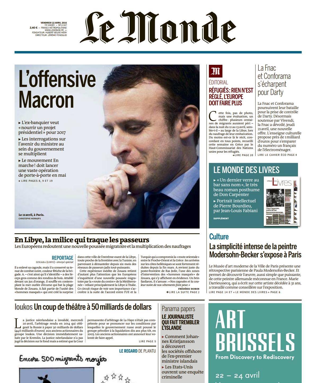Le Monde 22 avril 2016 © Christophe Morin.jpg