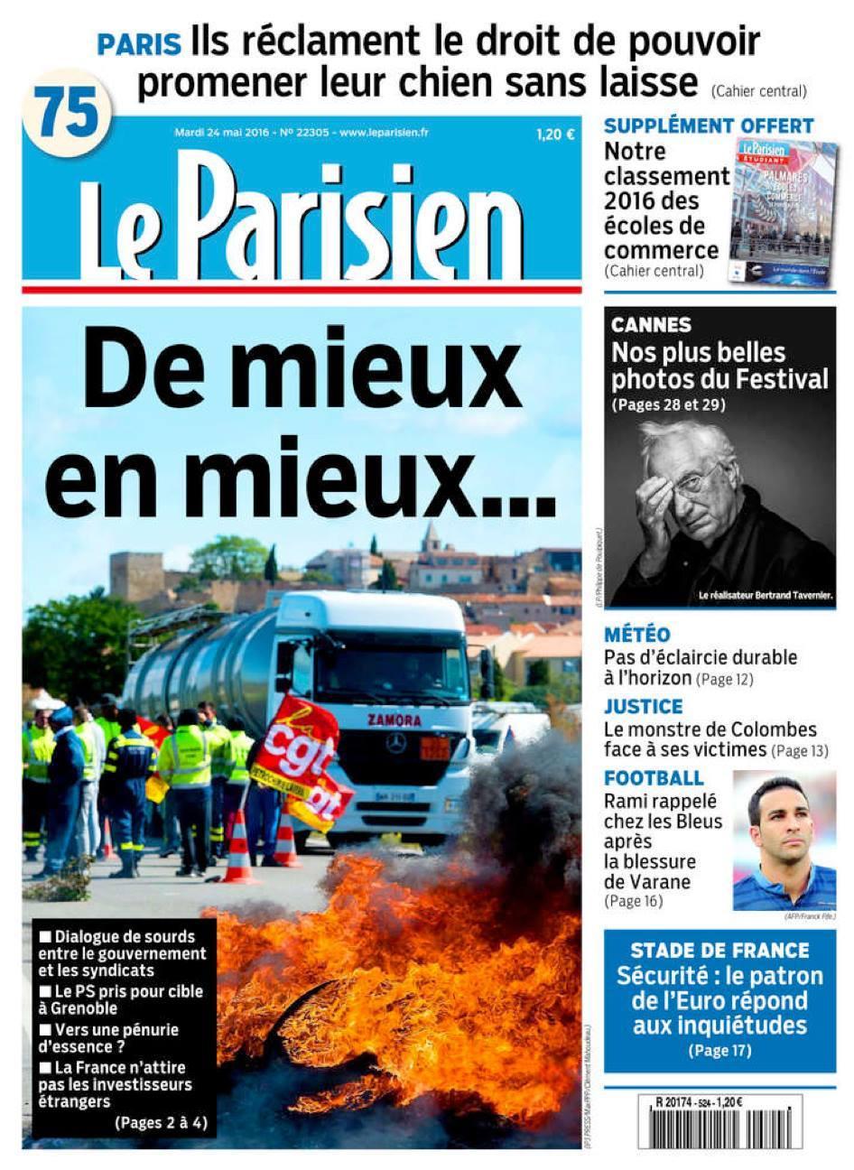 Le Parisien - 24 mai 2016 © Clément Mahoudeau.jpg
