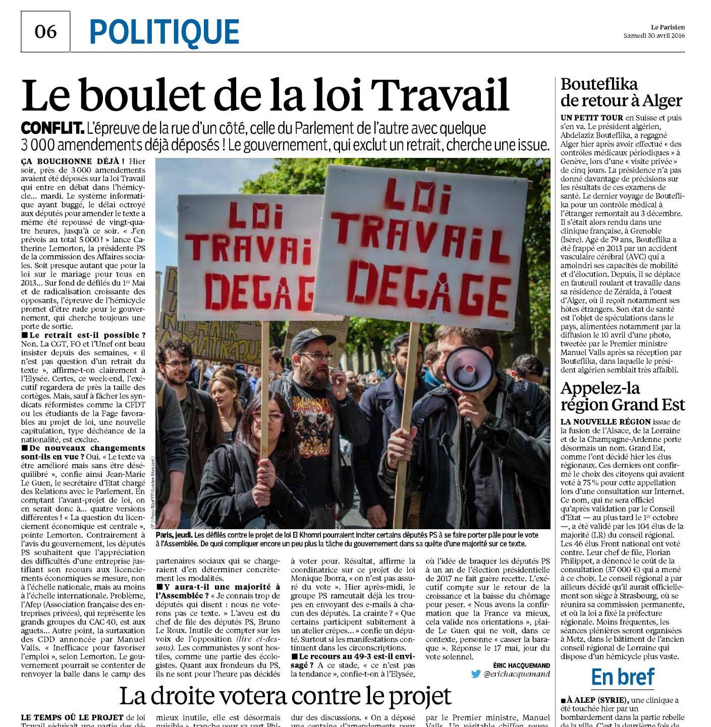 Le Parisien - 30 avril 2016 © Aurélien Morissard.jpg