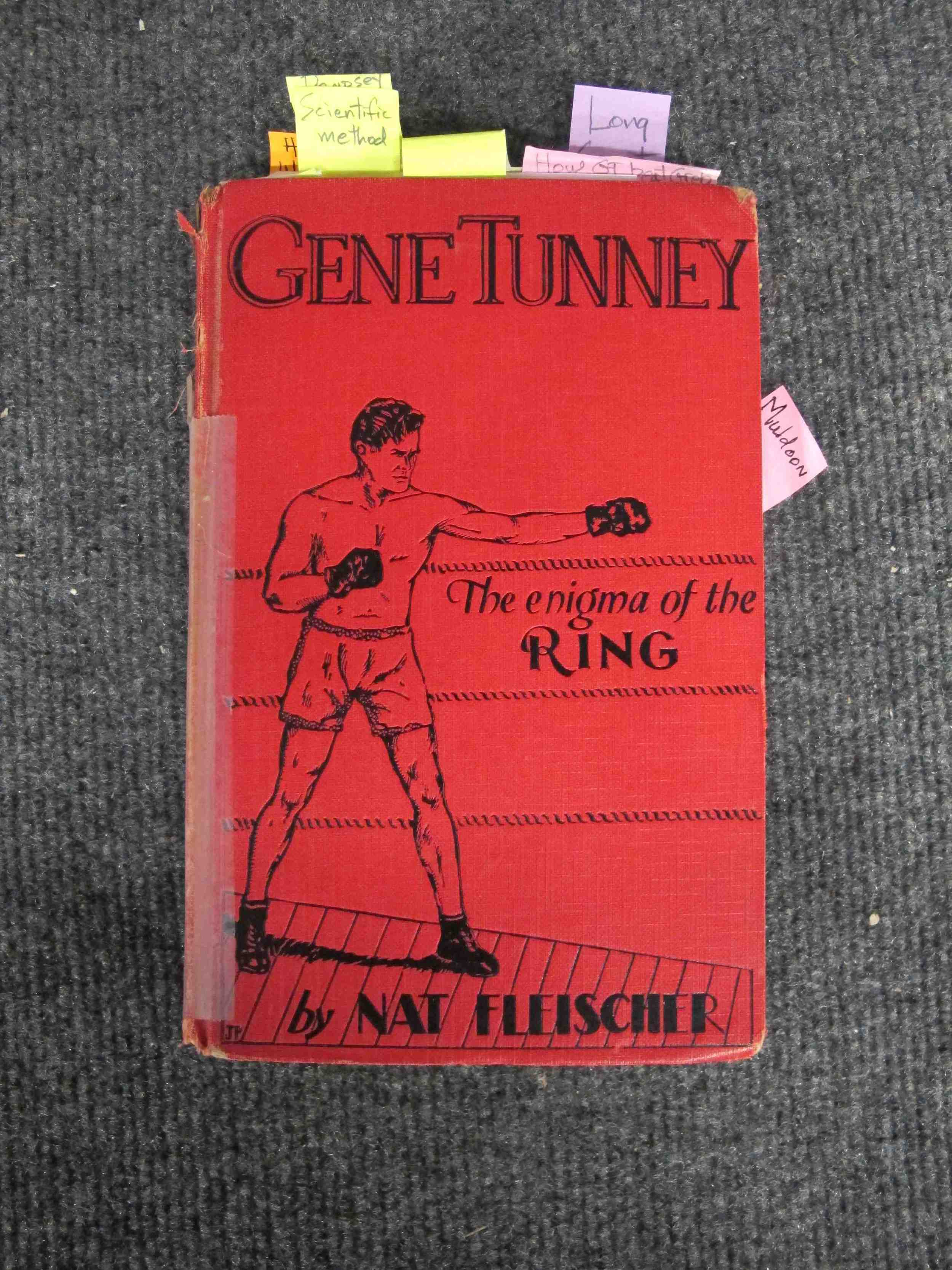"""Gene Tunney: The Enigma of the Ring,"" hardbound print on paper"