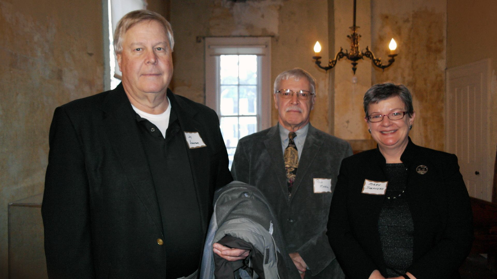 Jon Anderson – member of the Abraham Lincoln Association; Richard Monroe – member of the Abraham Lincoln Association; Mary Shepherd – member of the Abraham Lincoln Association