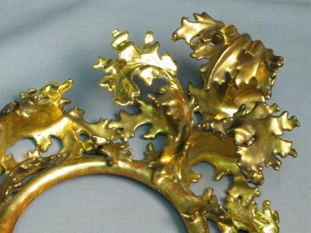(Above) Detail of ingilding the new elements in 24K gold leaf.