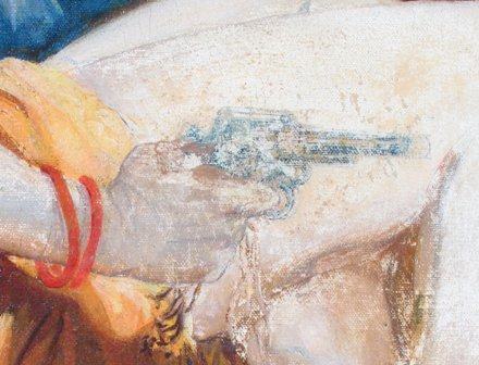 (Above) During treatment detail