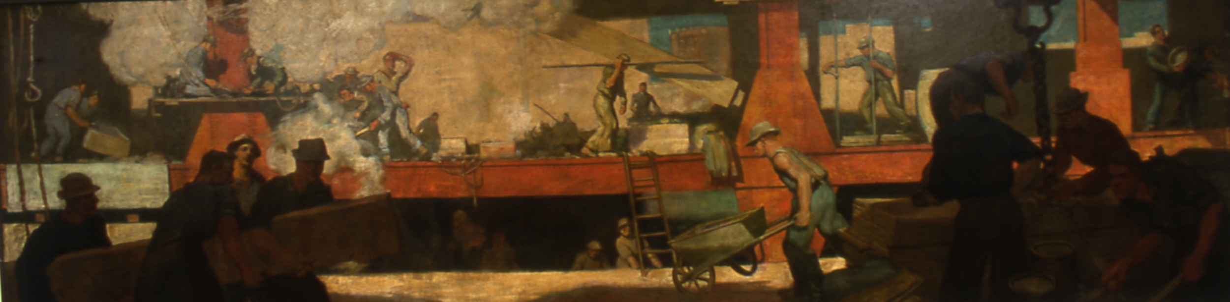 Construction Site , Gordon Stevenson, 1909, oil on canvas, Lane Technical High School.