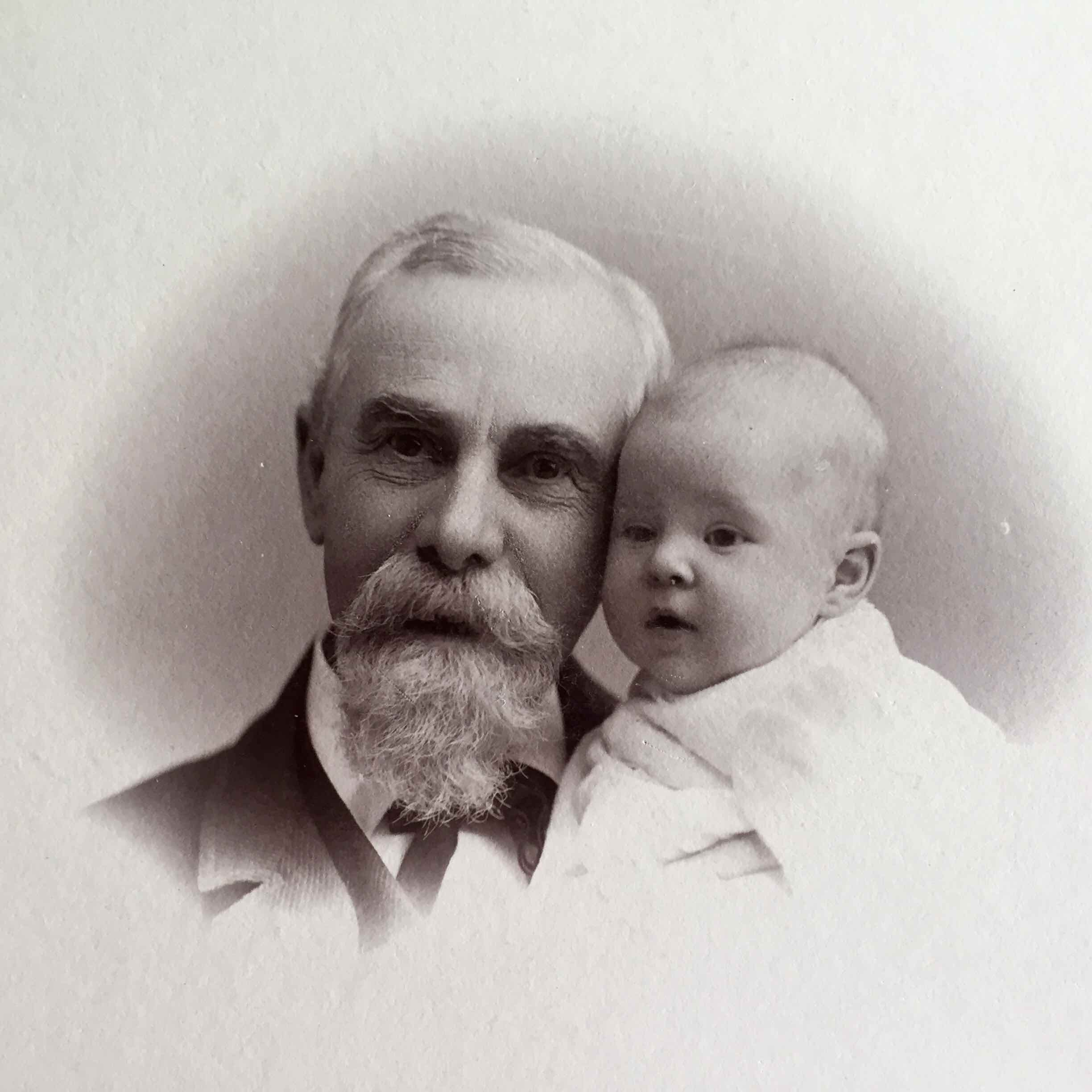 John Pels Manny and his granddaughter, Edith Sackett—who is Martha Manning's grandmother