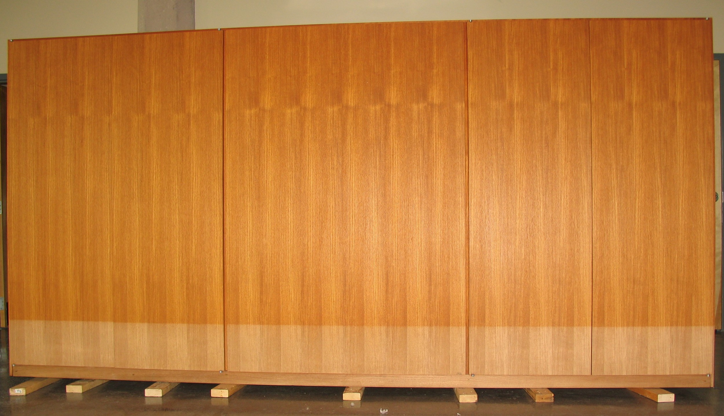 The wardrobe upon arrival to The Conservation Center