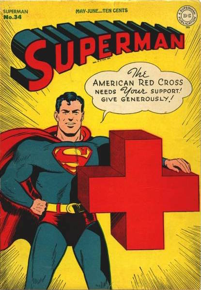 Featuring cover art by Jack Burnley, Superman No. 34 from May 1945 was one of the last covers featuring a war-related theme.