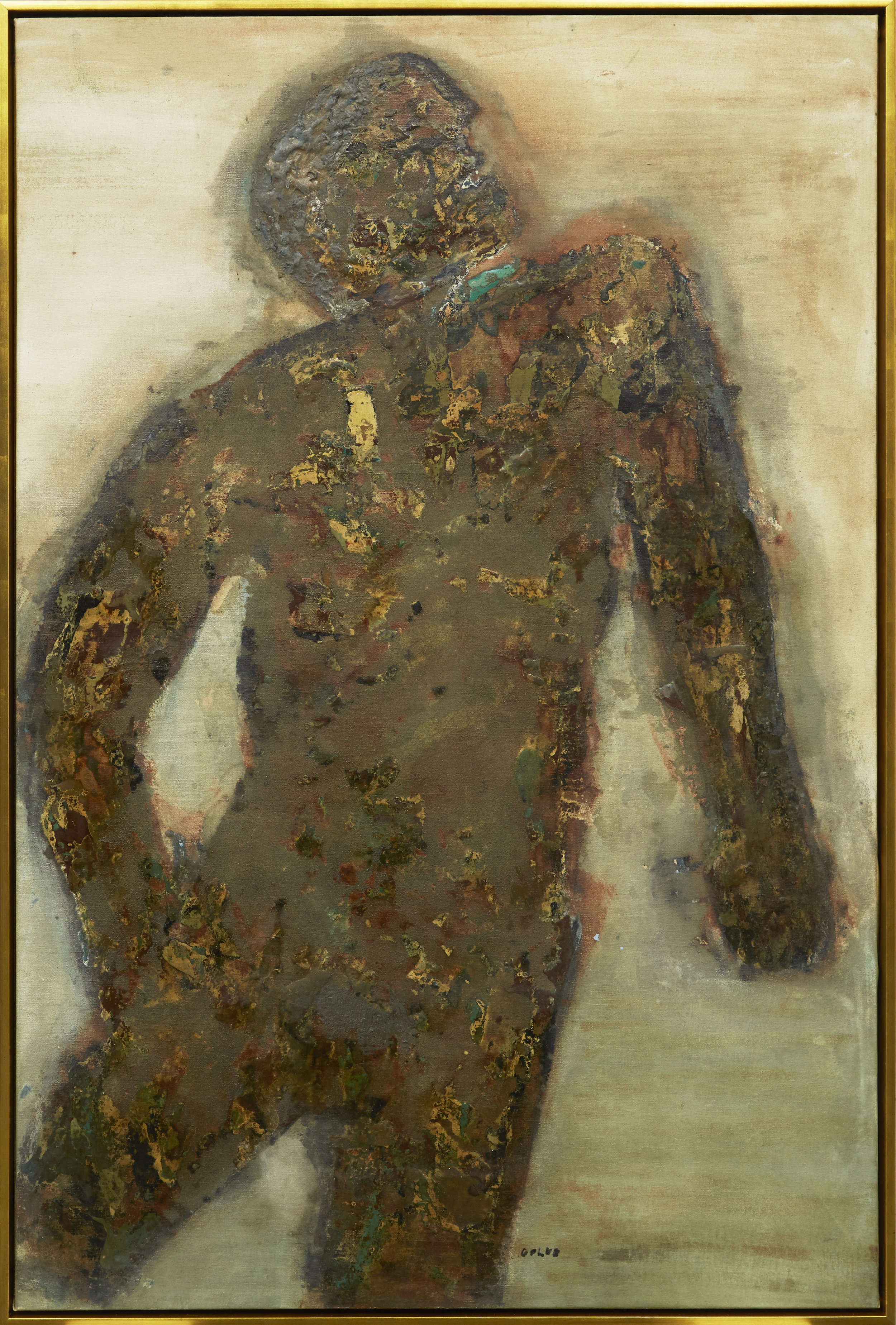 Burnt Man,  Leon Golub, after treatment at The Center.