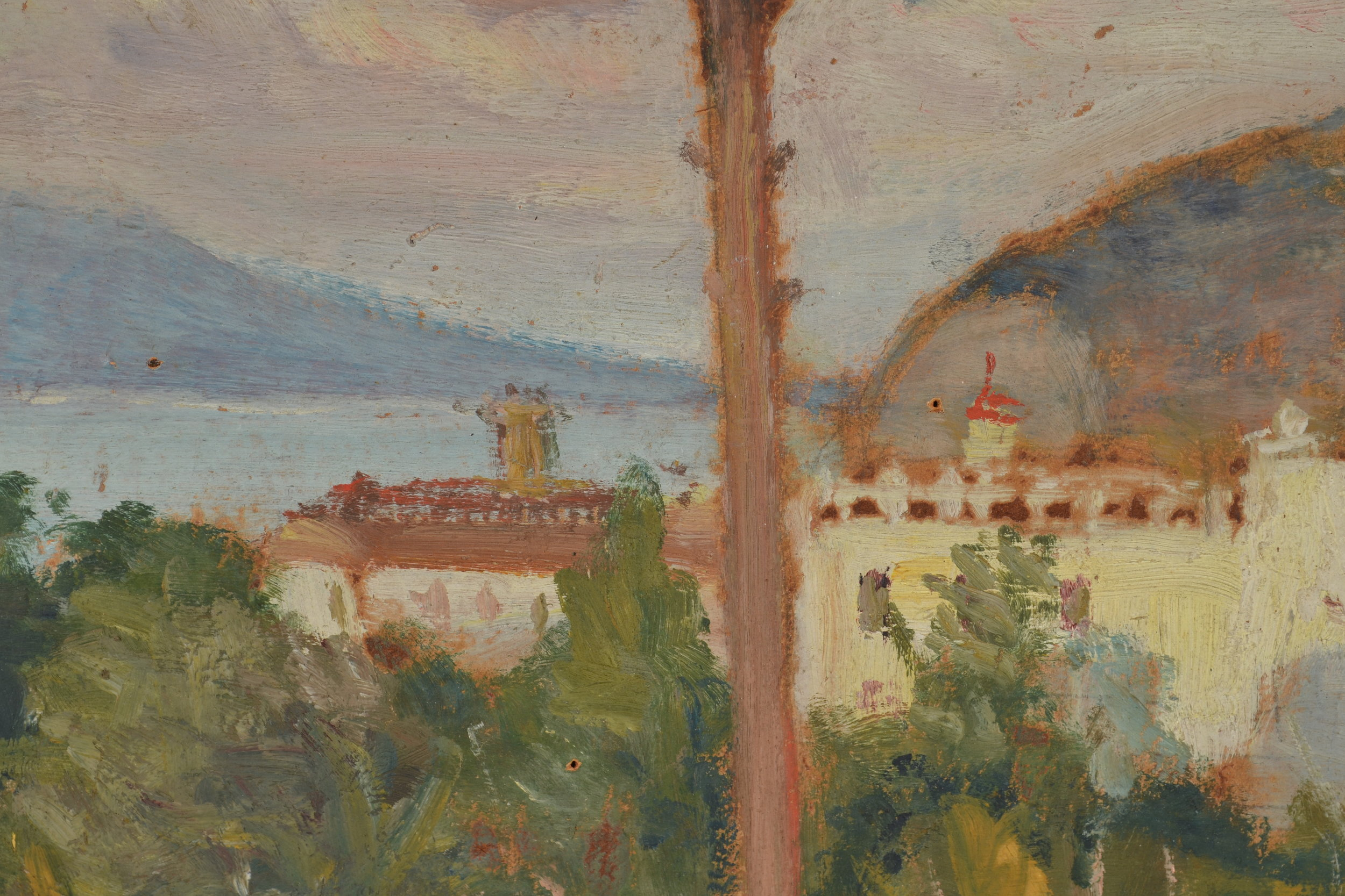 Detail image of one of the  Sorrento  paintings by Grant Wood.