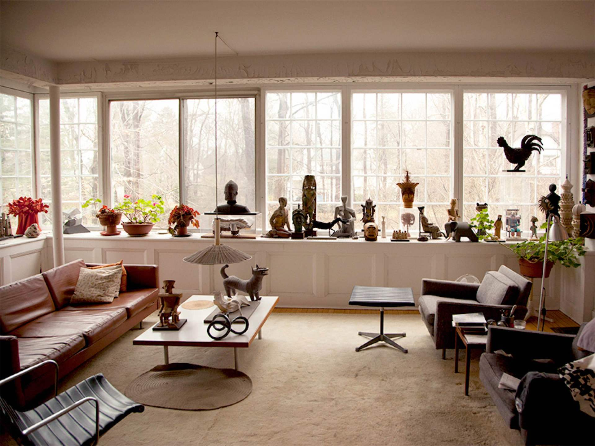 Irving Harper's New York home, Image courtesy of Why Magazine and Herman Miller.