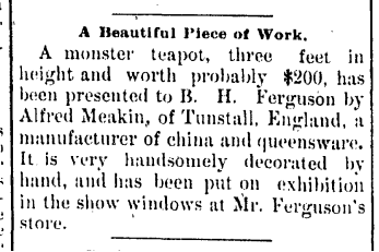 Daily State Register , April 24, 1890. Courtesy of the  Springfield Art Association .
