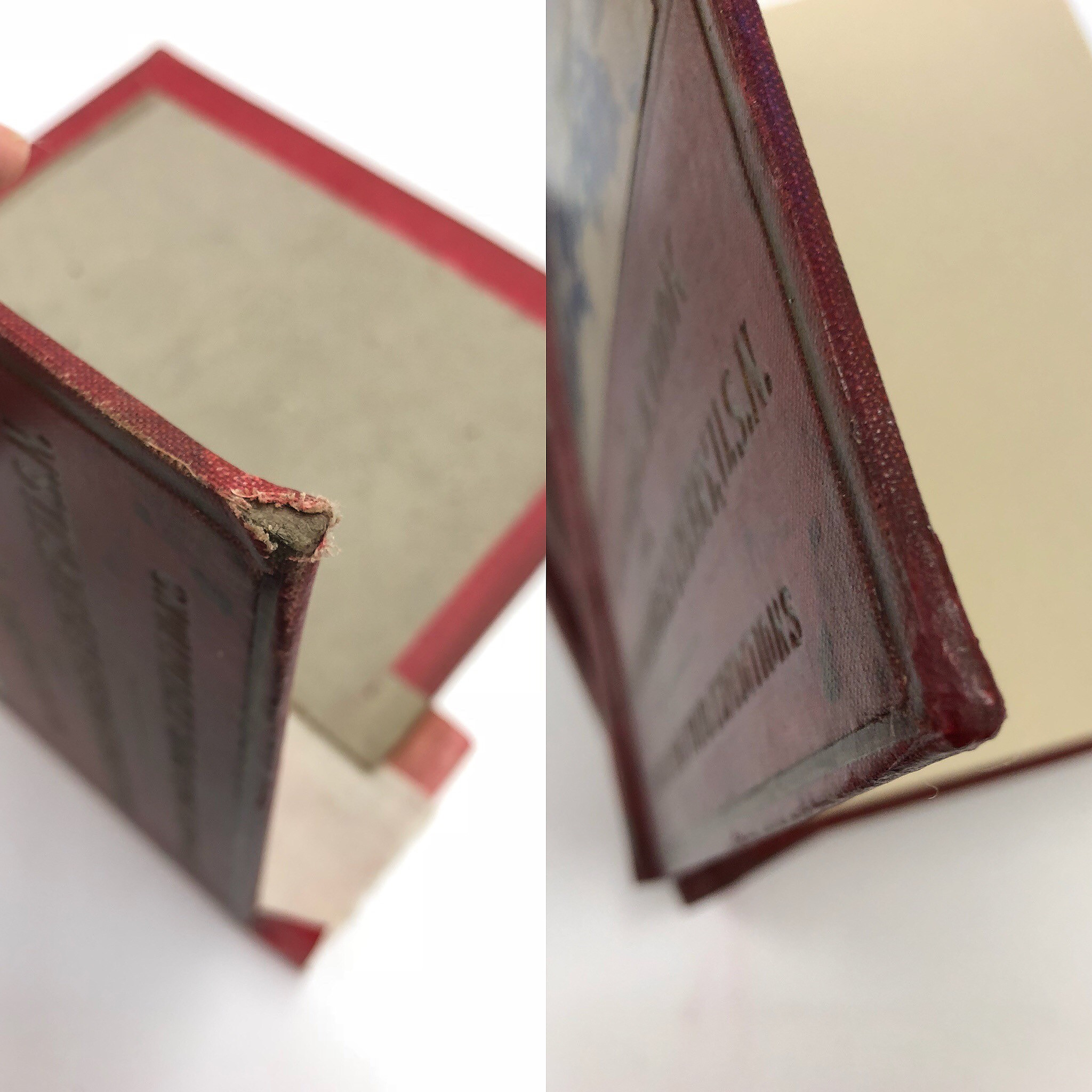 Before Treatment (Detail of damaged corner) After Treatment (Detail of repaired corner)