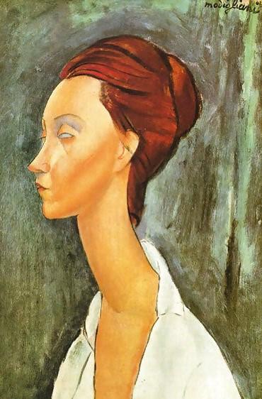 """""""Portrait of Lunia Czechowska,"""" 1919"""