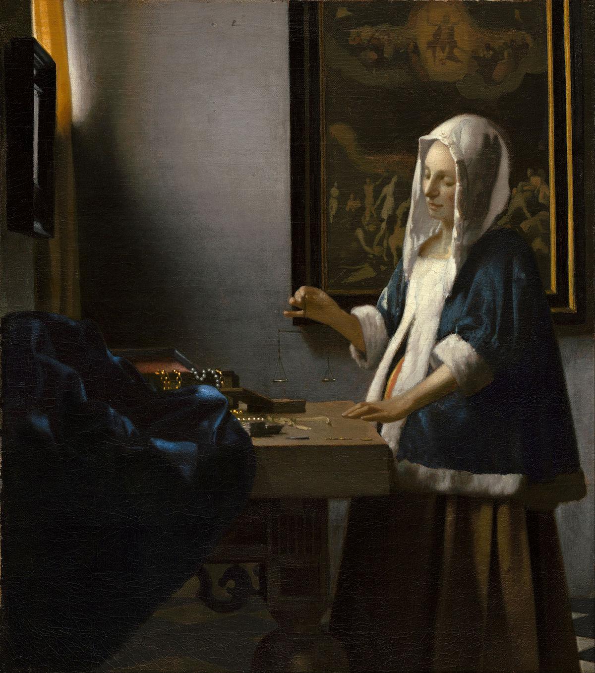 """Woman Holding a Balance,"" Johannes Vermeer, 1662-3"