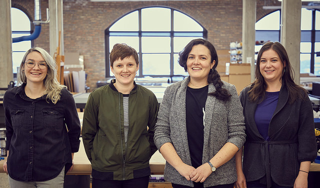 The CFF team from left to right: Maira Egan, Molly Maguire, Kelly Reynolds, Kim Samson. Keep scrolling to learn more about their background and expertise.