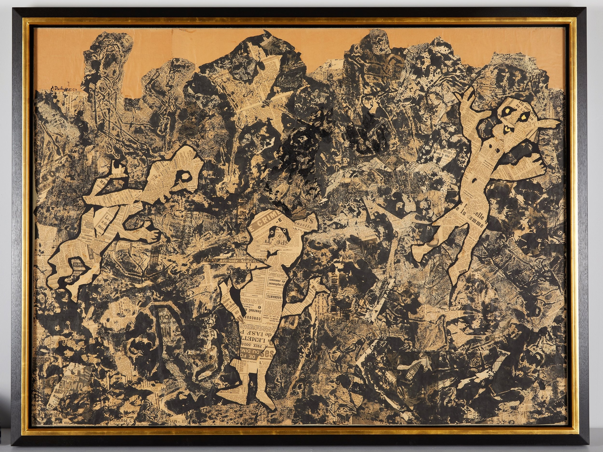 A Jean Dubuffet in a custom-made, conservation-grade frame.