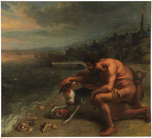 """""""The Discovery of Purple,"""" by Peter Paul Rubens, 1636."""