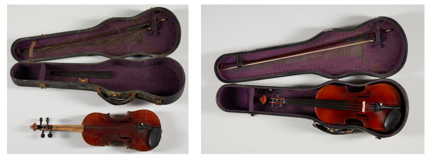 Before and after the instrument received treatment.