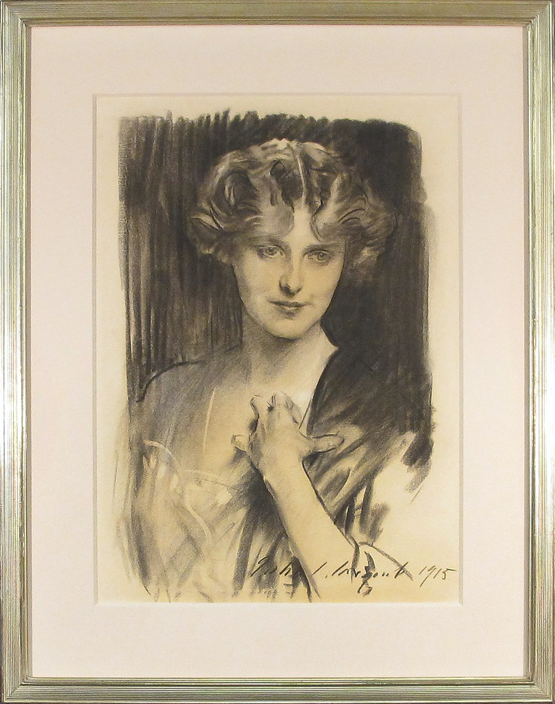 Evelyn Field, as sketched by John Singer Sargent.