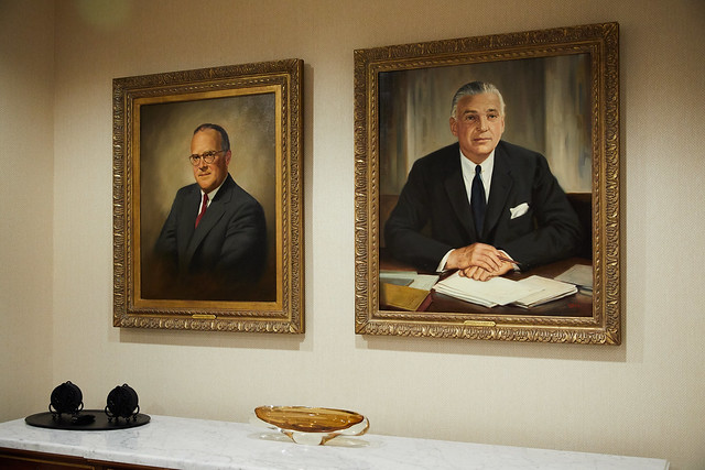 The paintings of the Fields hang in Mr. Field V's office.