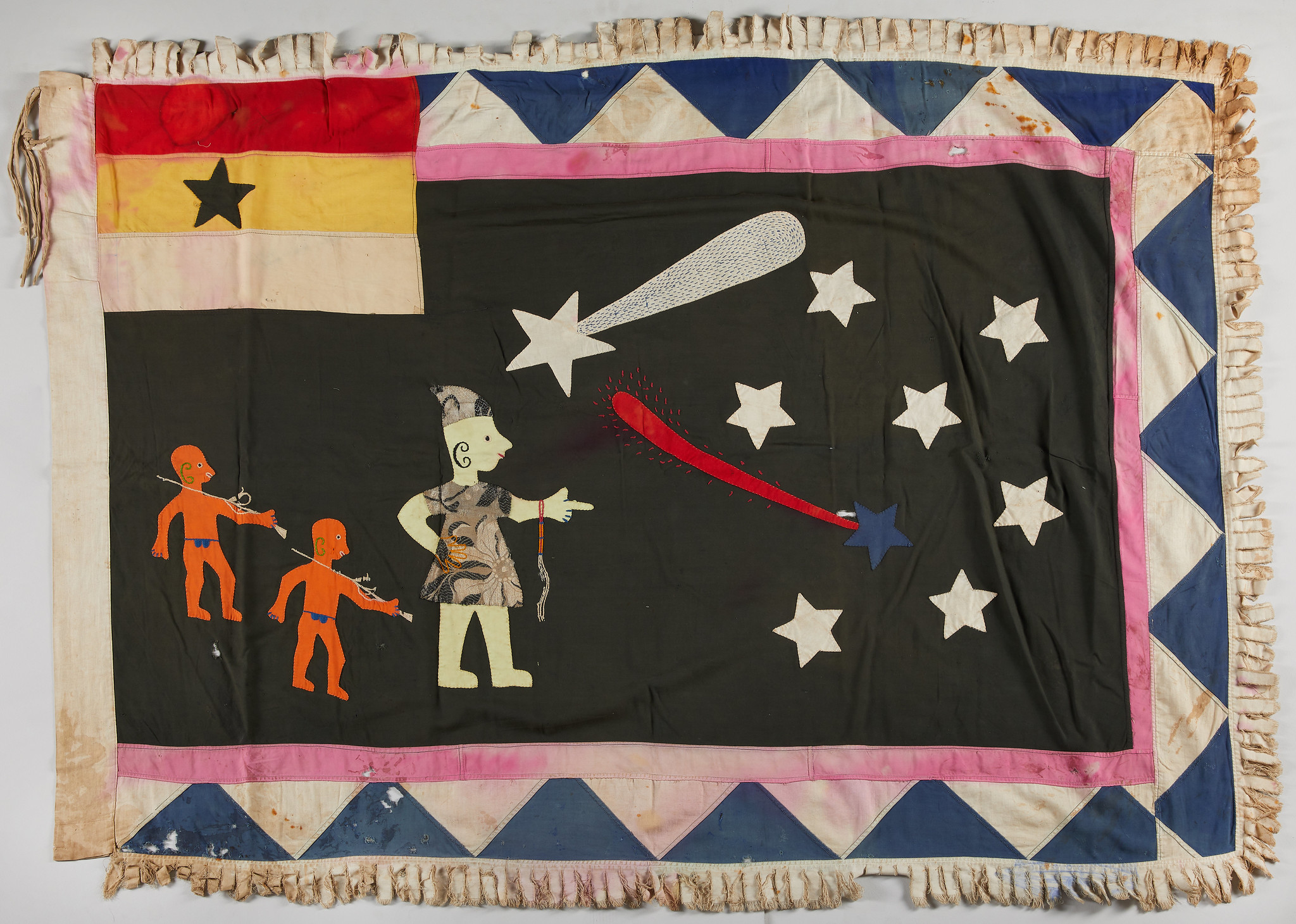 One of the visually stunning flags from the collection, before treatment, 43 x 60.25 inches.