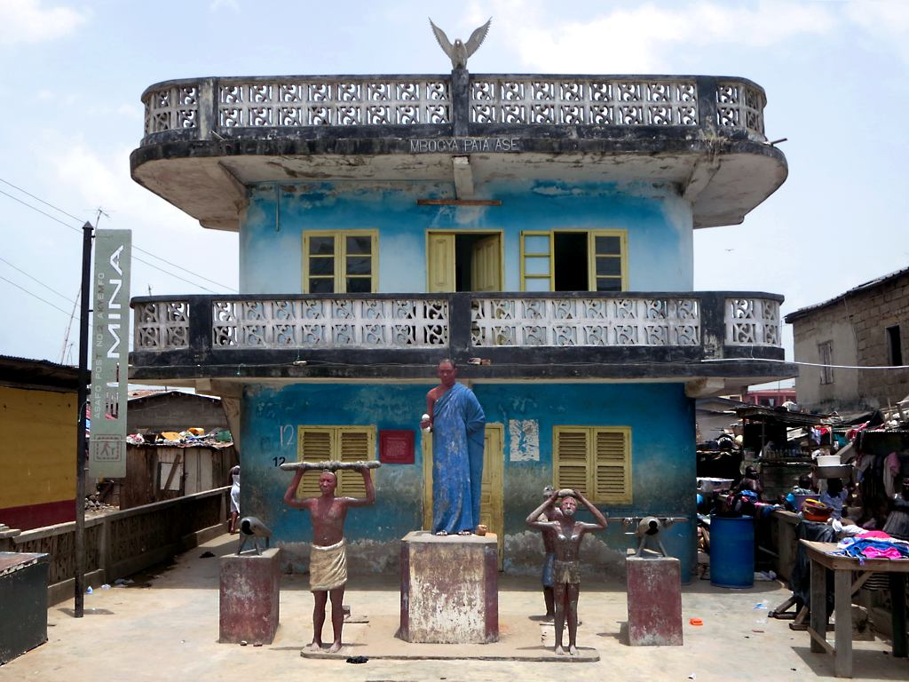 A Fante Asafo Company Shrine, a colorful monument and symbol of community. (Courtesy of the Creative Commons.)