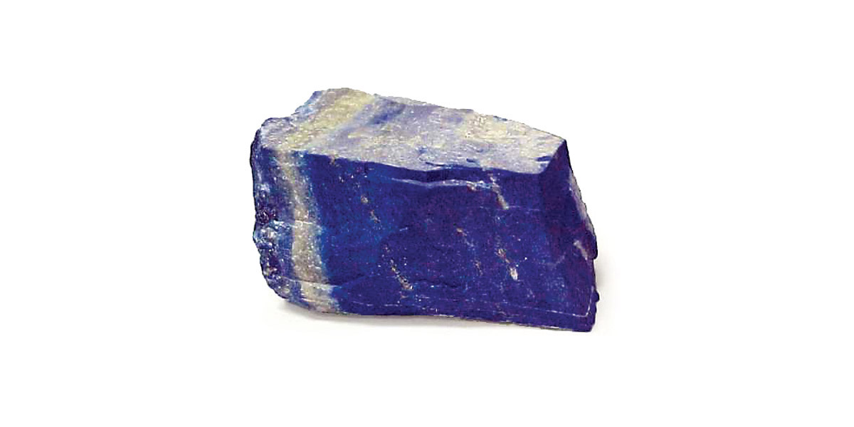 The Lapis Lazuli stone in raw form.