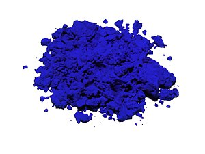 Powdered Lapis Lazuli, the original ultramarine pigment (and ancient Egyptian eyeshadow.)