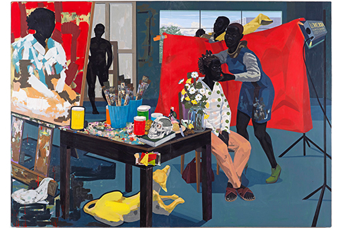 Kerry James Marshall's painting  Mastry , photo courtesy of the  Metropolitan Museum of Art.