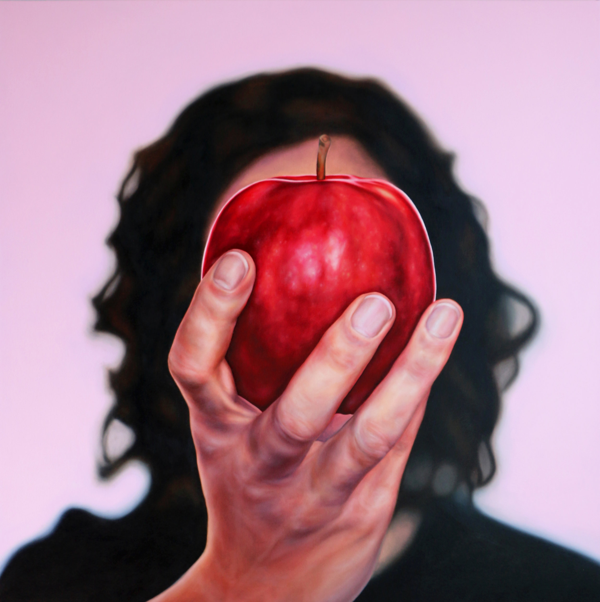 I'll Be the Apple of Your Eye: Homage to Magritte
