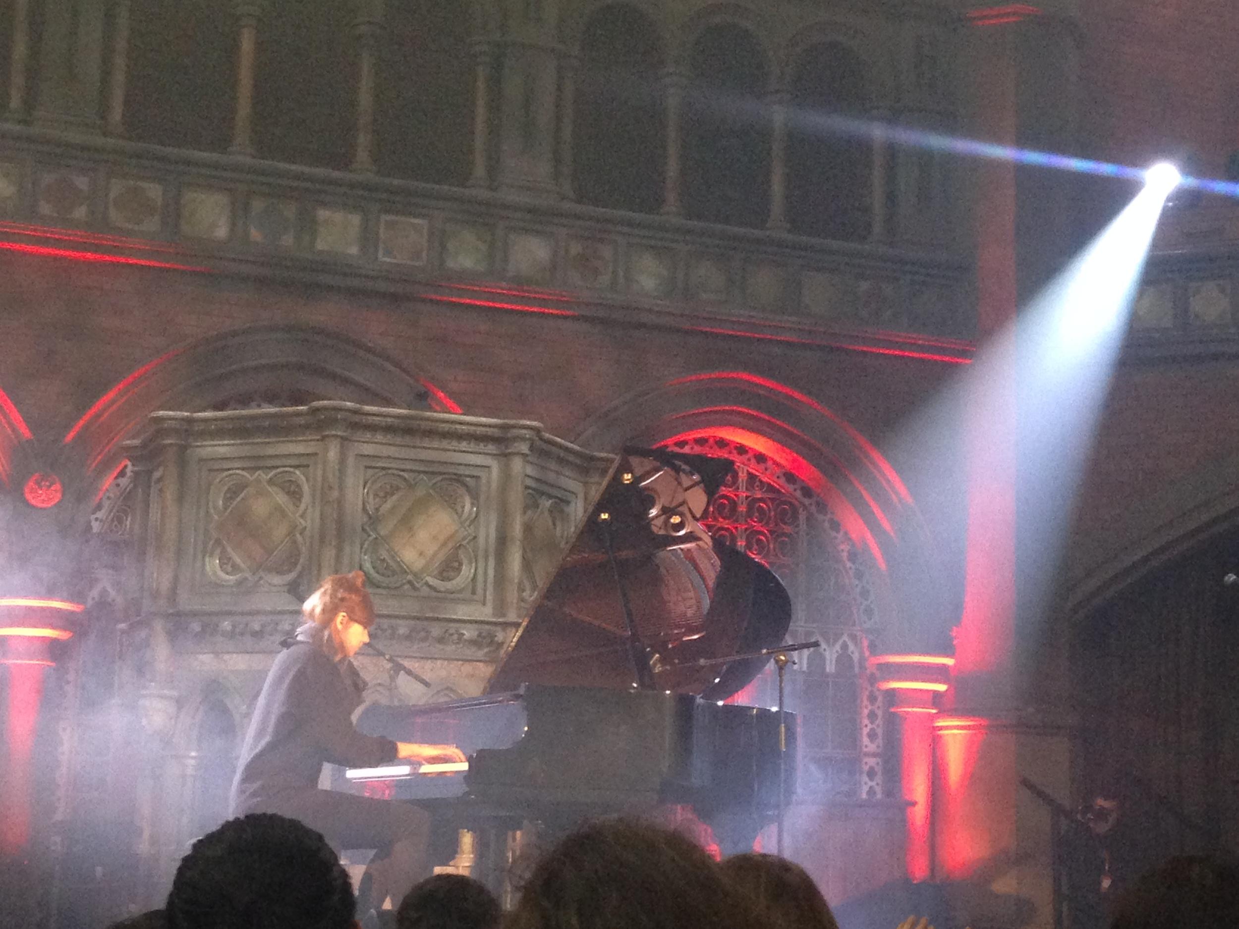 Poppy Ackroyd, Daylight Music gig for Piano Day, Union Chapel, Islington, London 26 March 2016