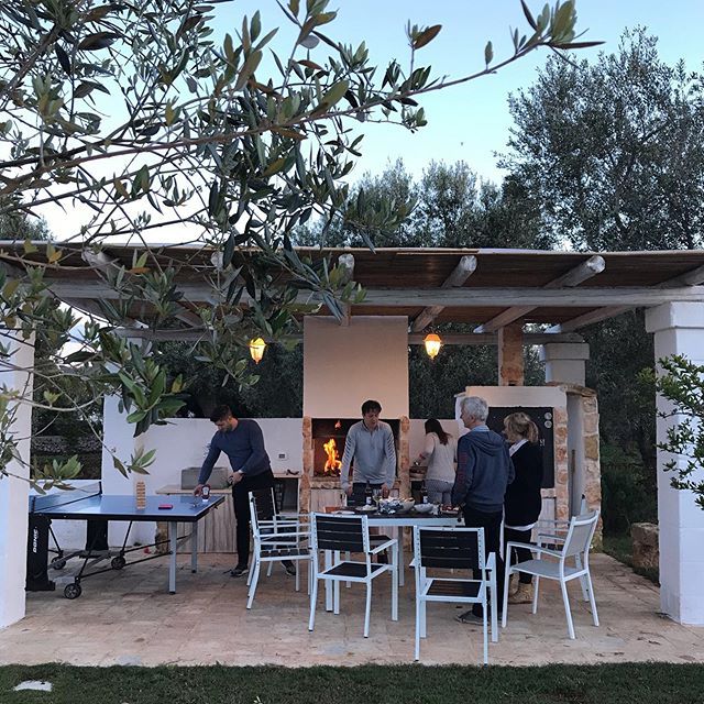 Throw back to sunny nights in Italy with family and friends and the most amazing outdoor kitchen in the world!  Tonight looks a little different. My baby is having a sleep over with Grannie and Grandad. Only my second night without him. I miss him, his cuddles and kisses and surpringly the noise. But I've had a loooooong hot bath, with a glass of wine and a book and we're about to have a quiet dinner, just the two of us, and an uninterrupted night sleep. My first in a very long time. It's feels strange without him but I'm enjoying a little self care and time with @jamie_adkin ❤️ Hope you're all having a lovely evening. . . . . #saturday #weekend #weekendvibes #travel #travelling #italy #explore #exploring #adventure #family #holiday #travelphotography #travelgram #tourist #adventures #adventuretime #wander #wanderlust #puglia #puglialovers #garden #gardendesign #outdoorkitchen #pizzaoven #alfresco #alfrescodining #bbq #gardeninspiration