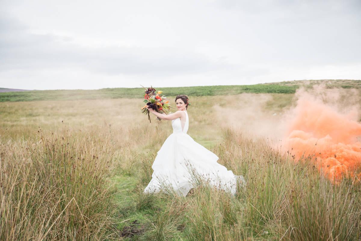 Wedding photographers yorkshire - wedding photographers leeds - natural wedding photography - smoke bombs (1 of 3).jpg
