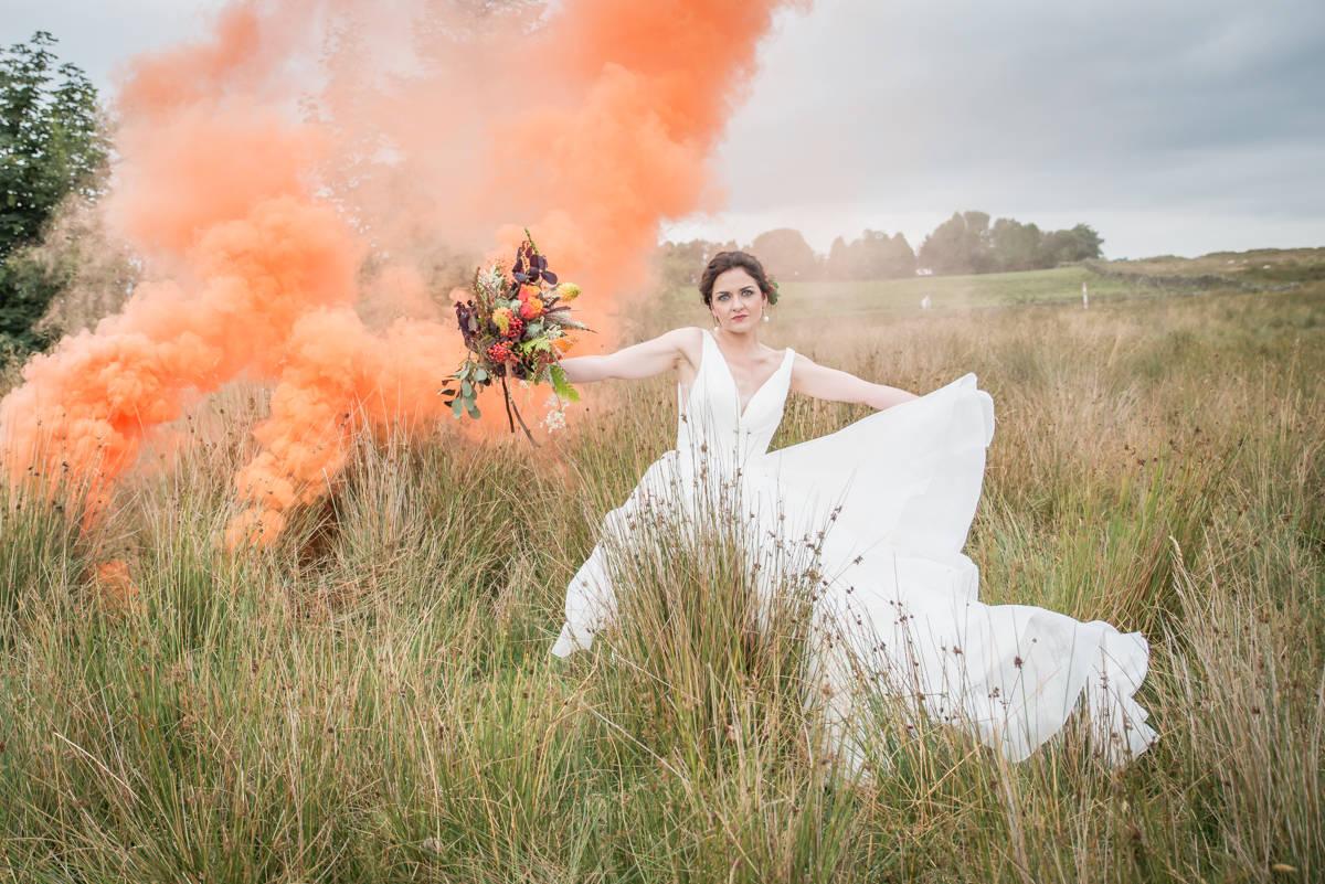Wedding photographers yorkshire - wedding photographers leeds - natural wedding photography - smoke bombs (3 of 3).jpg
