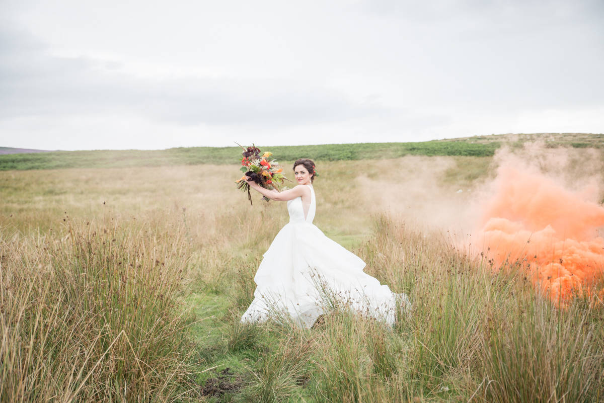 Wedding photographers yorkshire - wedding photographers leeds - natural wedding photography - smoke bombs (1 of 3).jpg