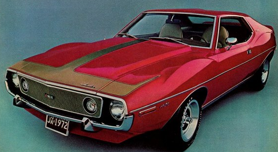 AMC Advertisement for the 1972 Javelin AMX.