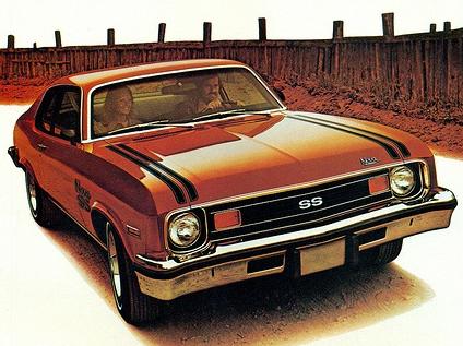 Advertisement for the 1974 Nova SS.