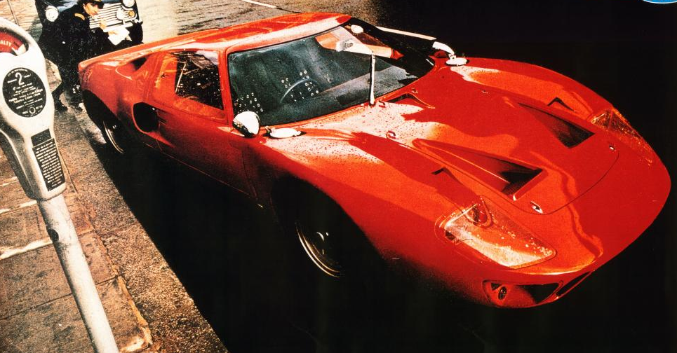Promotional advertisement for the production model of the GT40.