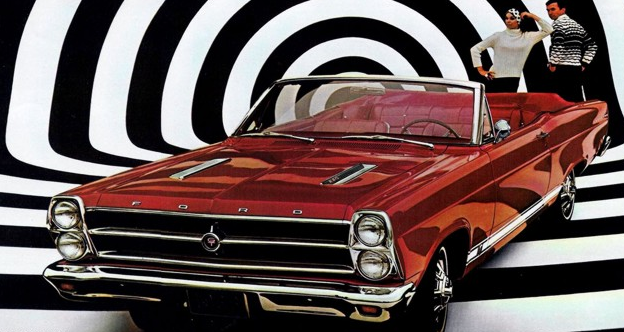 Advertisement for the 1969 Fairlane GT convertible.
