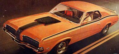 Advertisement for the 1970 Mercury Cougar.