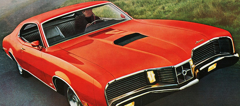 Advertisement for the 1971 Cyclone GT.