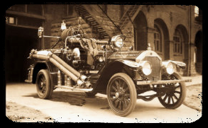 Vintage picture of 1924 Delahaye Fire Engine