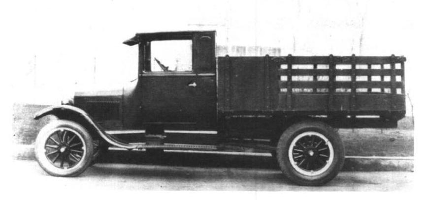 Original Photo of a 1926 Ford TT Cab