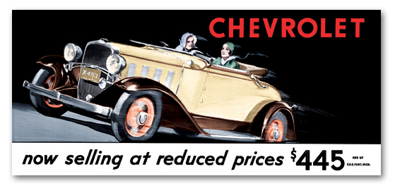 1932 Chevrolet touring ad