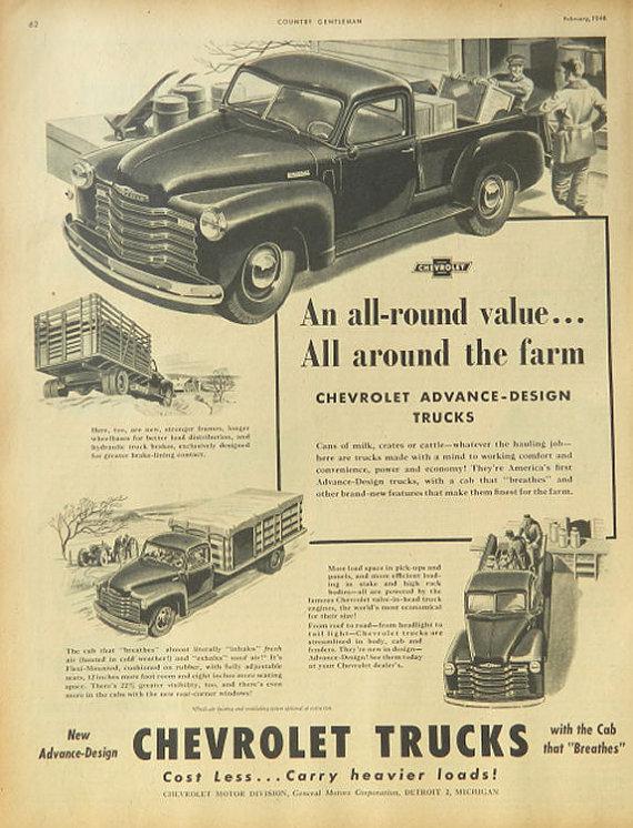 Chevrolet Pickup ad