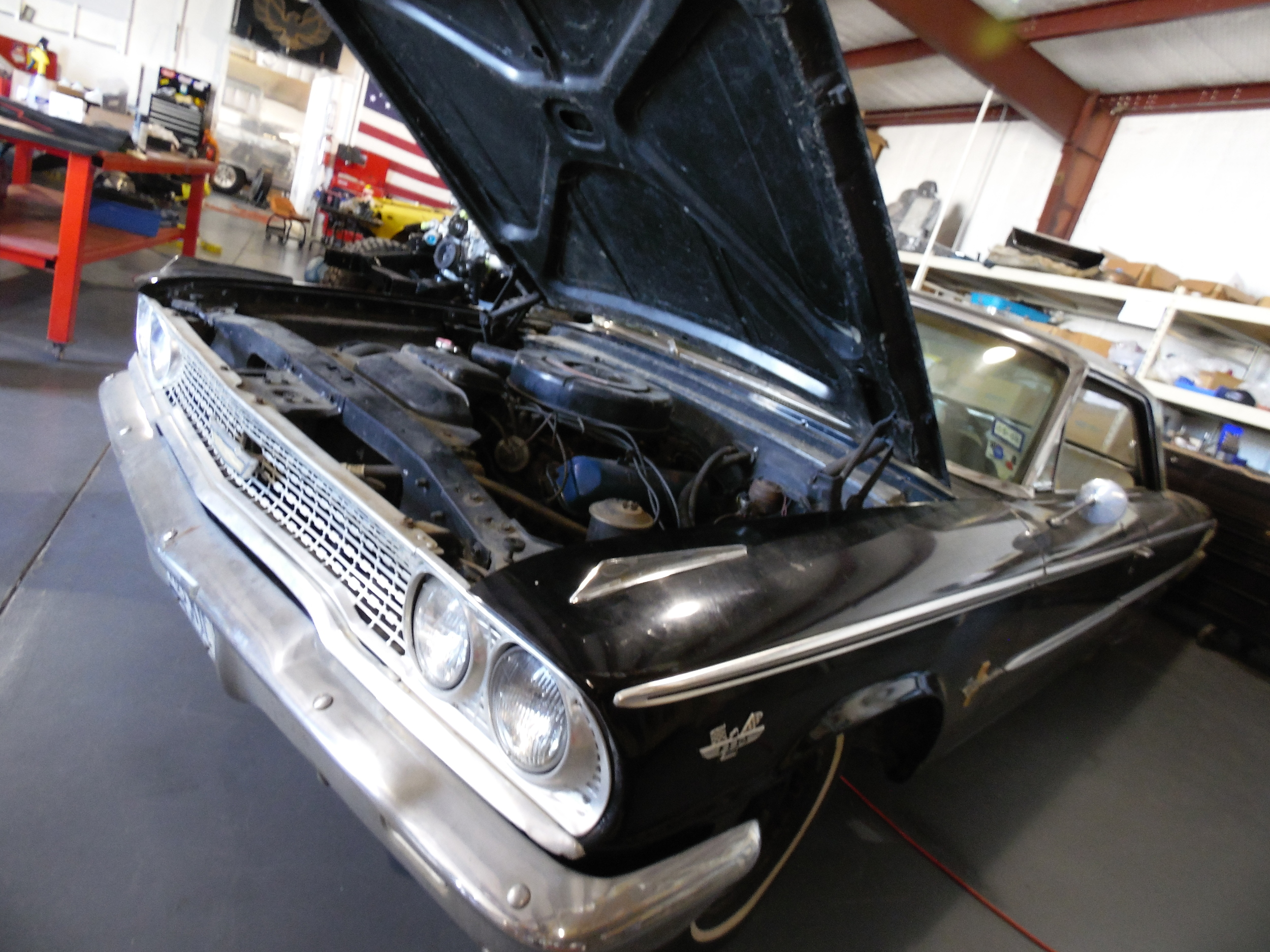 Ford Galaxie in shop