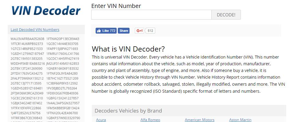 Modern Vin Decoder Banner