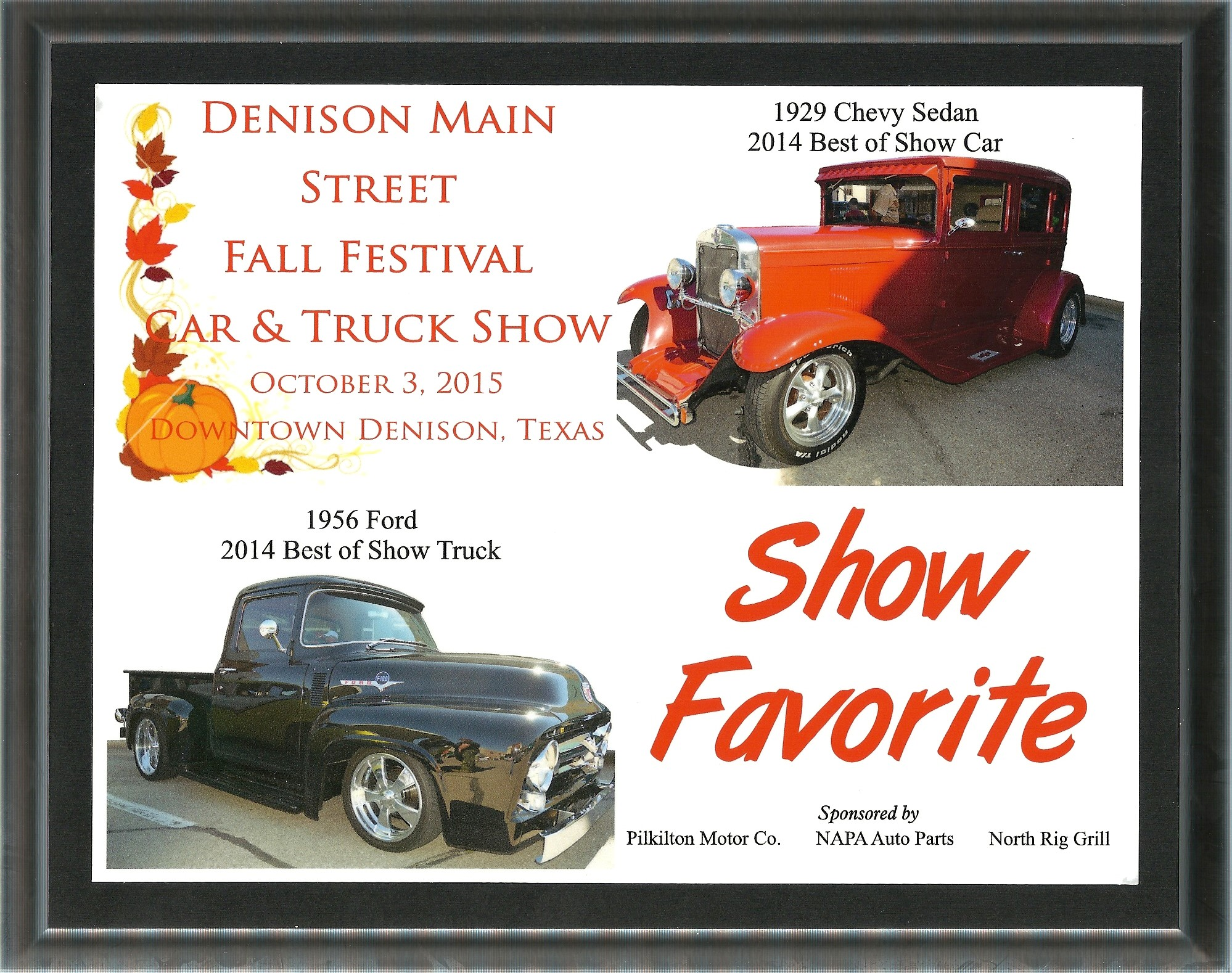 Denison Main Street Fall Festival Award