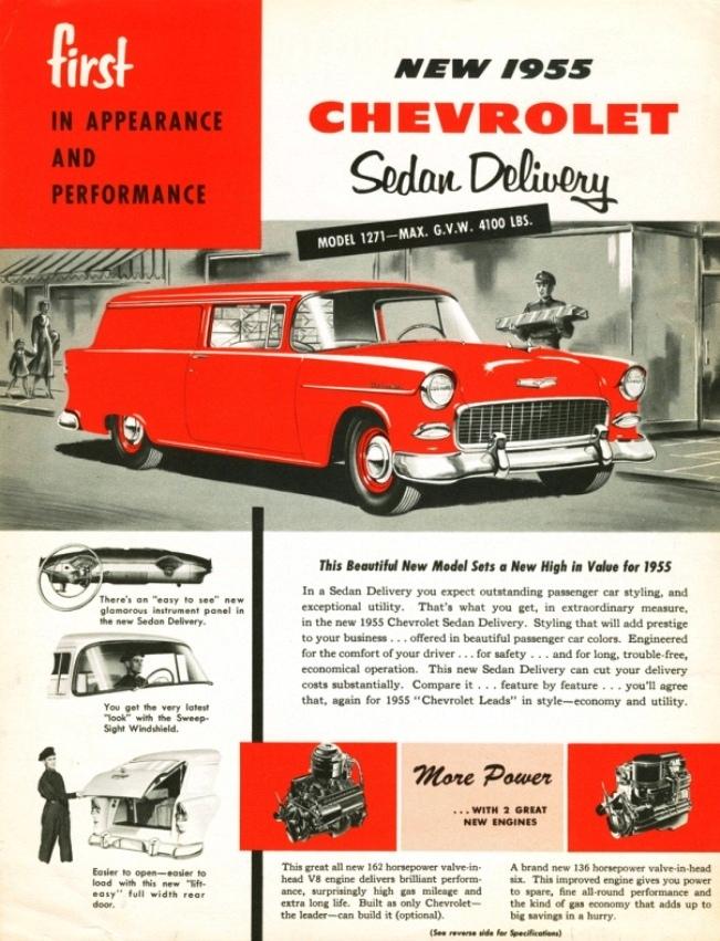 1955 Chevrolet Sedan Delivery ad