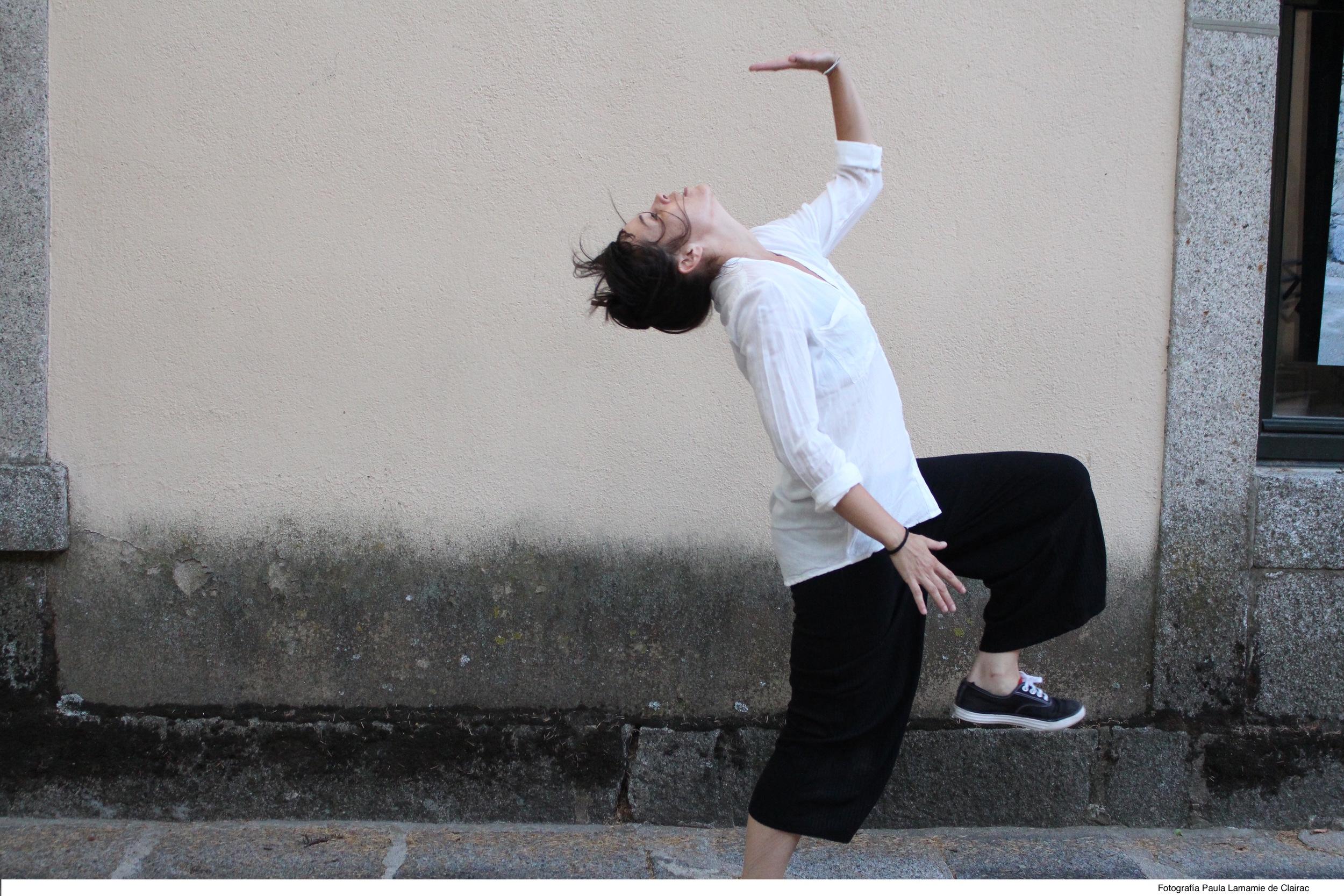 """Laura González, estudiante del taller de Pau Arán en el festival """"Escorial en Danza"""""""